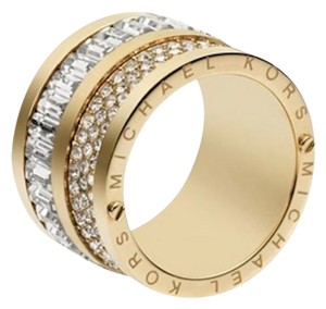Michael Kors Multi-Stone Gold Barrel RIng