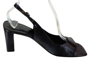 Coach Leather Slingback Black Pumps
