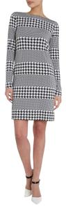 MICHAEL Michael Kors short dress Black & White Houndstooth Striped Shift Sheath on Tradesy