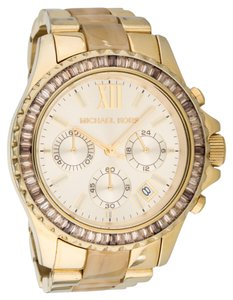 Michael Kors Ladies' gold-tone stainless steel Michael Kors Everest chronograph watch