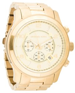Michael Kors Ladies' gold-tone stainless steel 45mm Michael Kors Runway Chronograph quartz watch