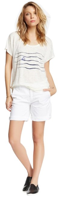 Item - White Cuffed Shorts Size 4 (S, 27)