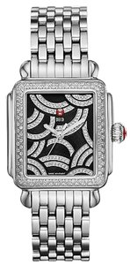 Michele Art Of Deco Diamond Black Diamond Dial Ladies Watch MWW06T000115