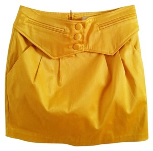 Other Mini Skirt Yellowish Gold