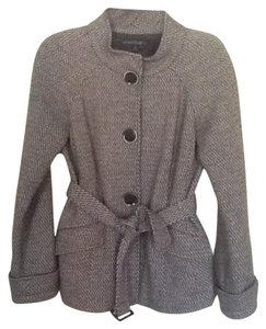Lafayette 148 New York Business Casual Professional Casual Sale Brown chevron tweed Jacket