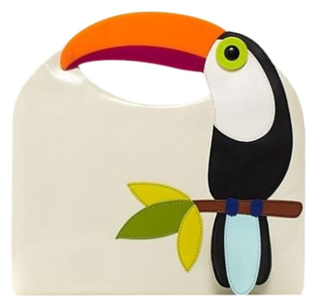 Item - Tansifine Msrp Multi Tucan Theme Patent Leather Clutch
