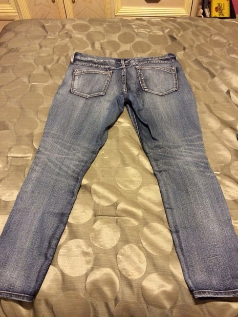 Express Straight Leg Jeans-Distressed