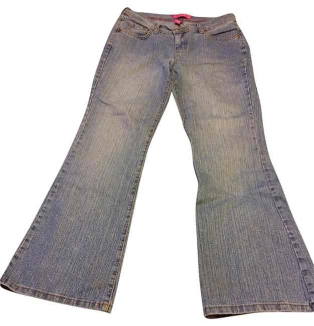 GLO Jeans Flare Leg Jeans-Distressed