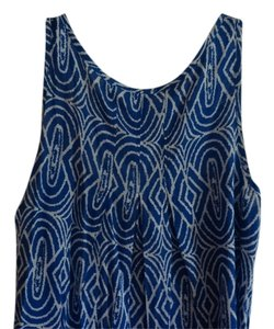 Faded Glory Top Royal Blue and White (silky)