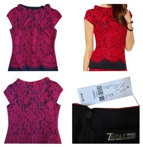 New York & Company Top Black and red