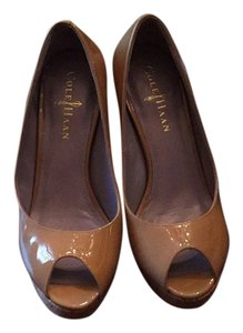 Cole Haan Sandalwood and cork Platforms