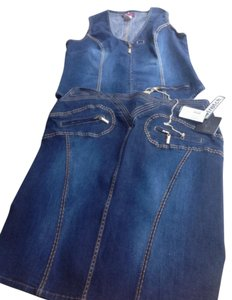 BABYPHAT NWT BABYPHAT DENIM VEST AND SKIRT SET SIZE 18