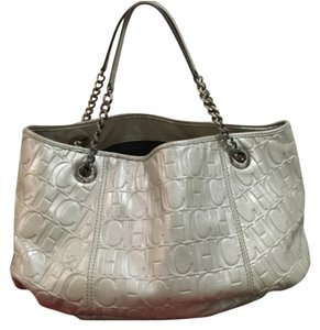 Carolina Herrera Satchel in Silver