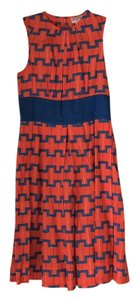 Plenty by Tracy Reese short dress Navy & orange on Tradesy