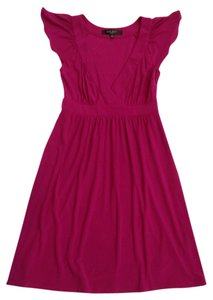 Nine West short dress Magenta V-neck on Tradesy