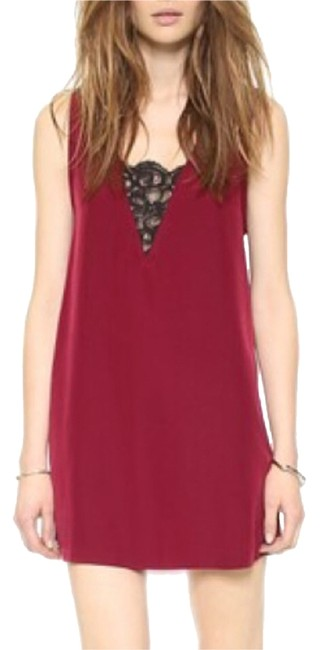 Item - Wine Above Knee Night Out Dress Size 8 (M)