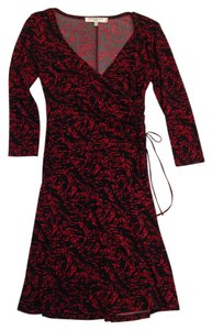 Evan Picone Wrap V-neck Dress