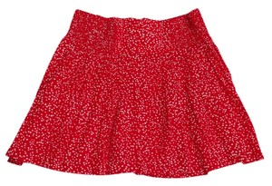 Gap Stretchy Polka Dots Mini Skirt Red