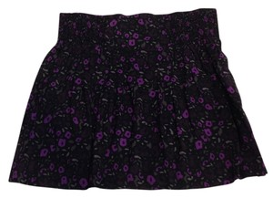 Gap Mini Skirt Black and Purple