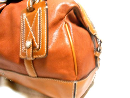 Cole Haan Leather Large Like New Satchel in Tan