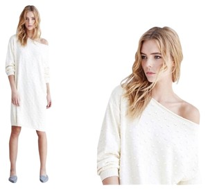 Callahan short dress Creme Sweatshirt Cotton Nubby Cotton on Tradesy