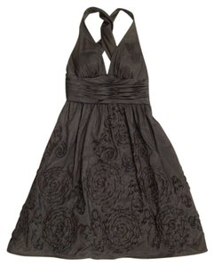 Adrianna Papell Flare Formal Shimmer Crisscross Strap Dress
