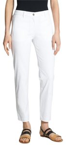 Eileen Fisher Spandex Stretch Straight Pants White