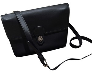 Coach Crossbody Leather Crossbody Black Messenger Bag