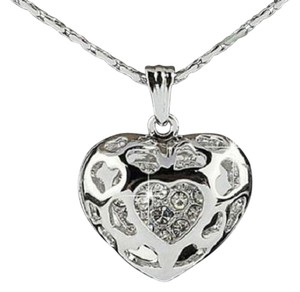 Other New 925 Silver Heart Pendant Necklace 18 in. J2068