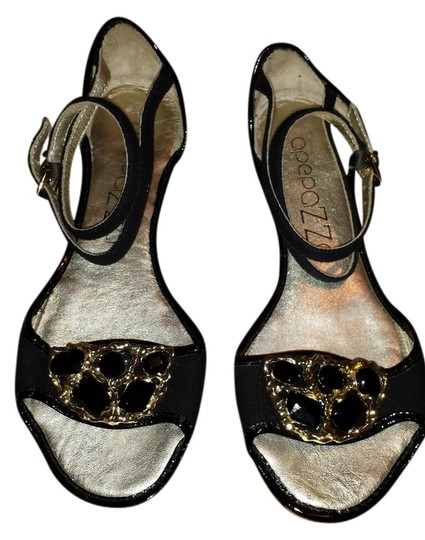 Apepazza Black / gold Sandals