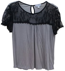 Cotton On Lace T Shirt Gray