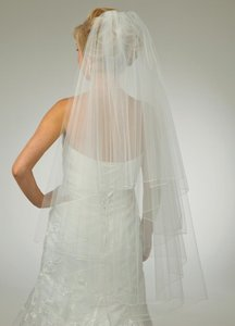 J.L. Johnson Bridals Cusom Made Two Layer Fingertip Length Wedding Veil