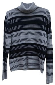 Carolyn Taylor Striped Turtle Neck Sweater