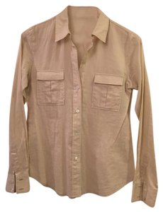 Theory Button Down Shirt Sand
