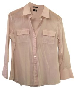 Theory Button Down Shirt Pink