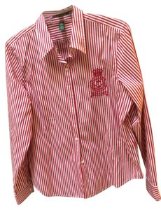 Ralph Lauren Button Down Shirt Red and white striped