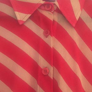 Zoomp Button Down Shirt Red and nude