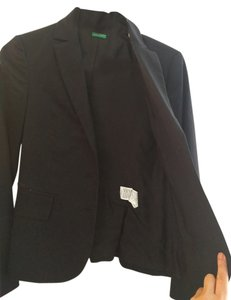 United Colors of Benetton Comfortable Chic Cotton Night Out Date Night Casual black Blazer