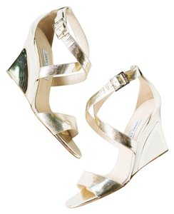 Jimmy Choo Gold Wedges