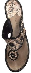 Jack Rogers Black/Tan Wedges