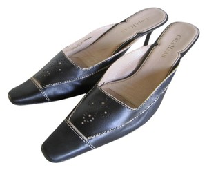 Cole Haan Lined Soles BLACK LEATHER Mules
