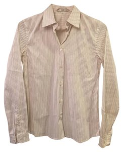 Prada Button Down Shirt Ivory