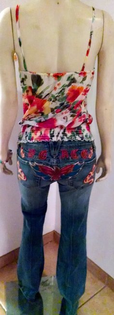 Forever 21 Size Small Floral Sleeveless Top orange, brown, ivory, green, yellow Image 1