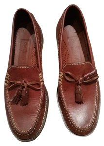Cole Haan Leather Tassels Brown Flats