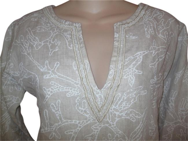 Item - Beaded Embellished Coral Print Tunic Size 2 (XS)