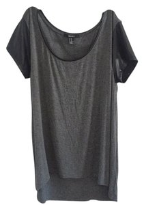 Forever 21 T Shirt Gray/Black
