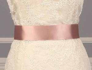 Your Dream Dress Exclusive Misty Rose Double Faced Ribbon Sash