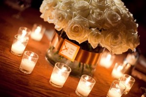 72 Clear Votives With White Candles