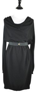 Lanvin short dress Black Wool Blend Cashmere on Tradesy