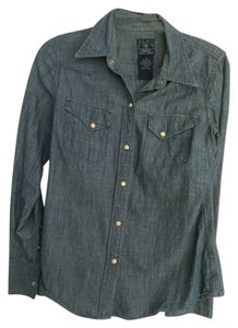 Lucky Brand Button Down Shirt Denim
